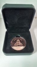 Bronze Coin in a High Quality Black Leatherette Box